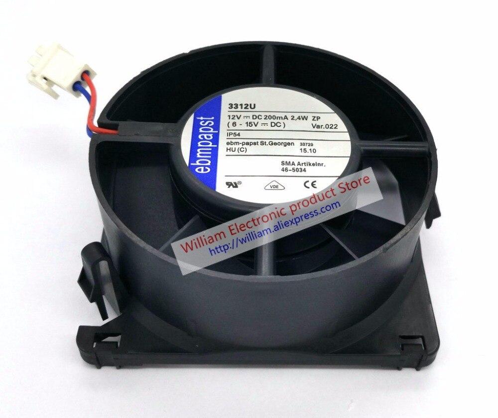 Original EBM PAPST 3312U 12 V 2.4 W 2.8 W 90*90*32 MM ventilateur de refroidissement étanche