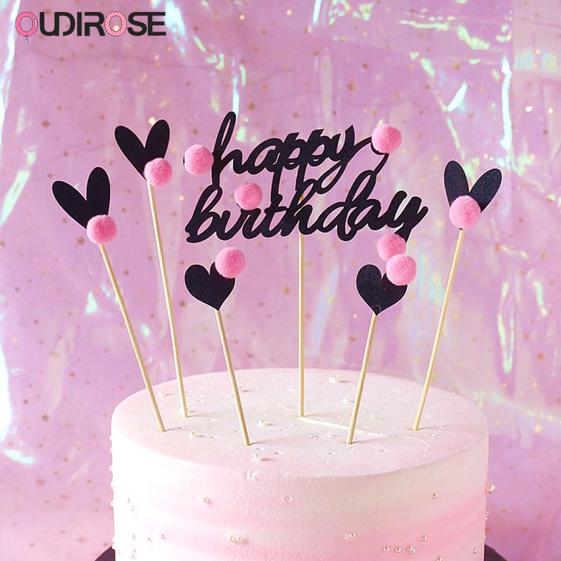 Tremendous Happy Birthday Cake Topper Cute Ornaments Cake Valentines Day And Funny Birthday Cards Online Chimdamsfinfo