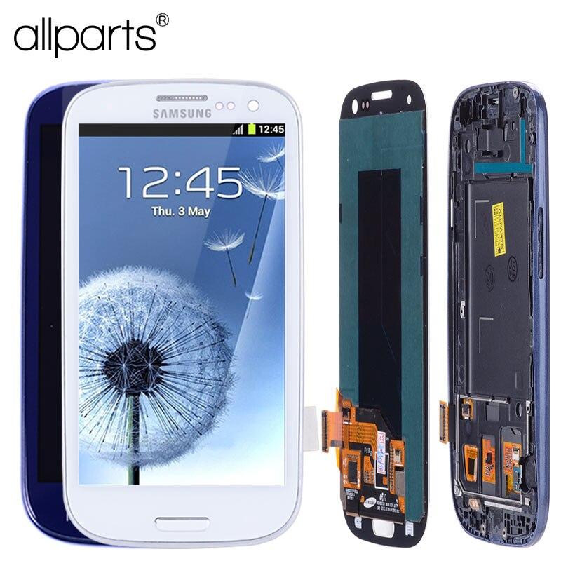 AA 4.8 ''i9300i i9300 Affichage Pour SAMSUNG Galaxy S3 LCD Assemblée D'écran avec Cadre Pour SAMSUNG Galaxy S3 Affichage i9300 LCD