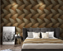 beibehang  European fashion PVC Abstract 3 deep press wallpaper bedroom room papel de parede wall paper