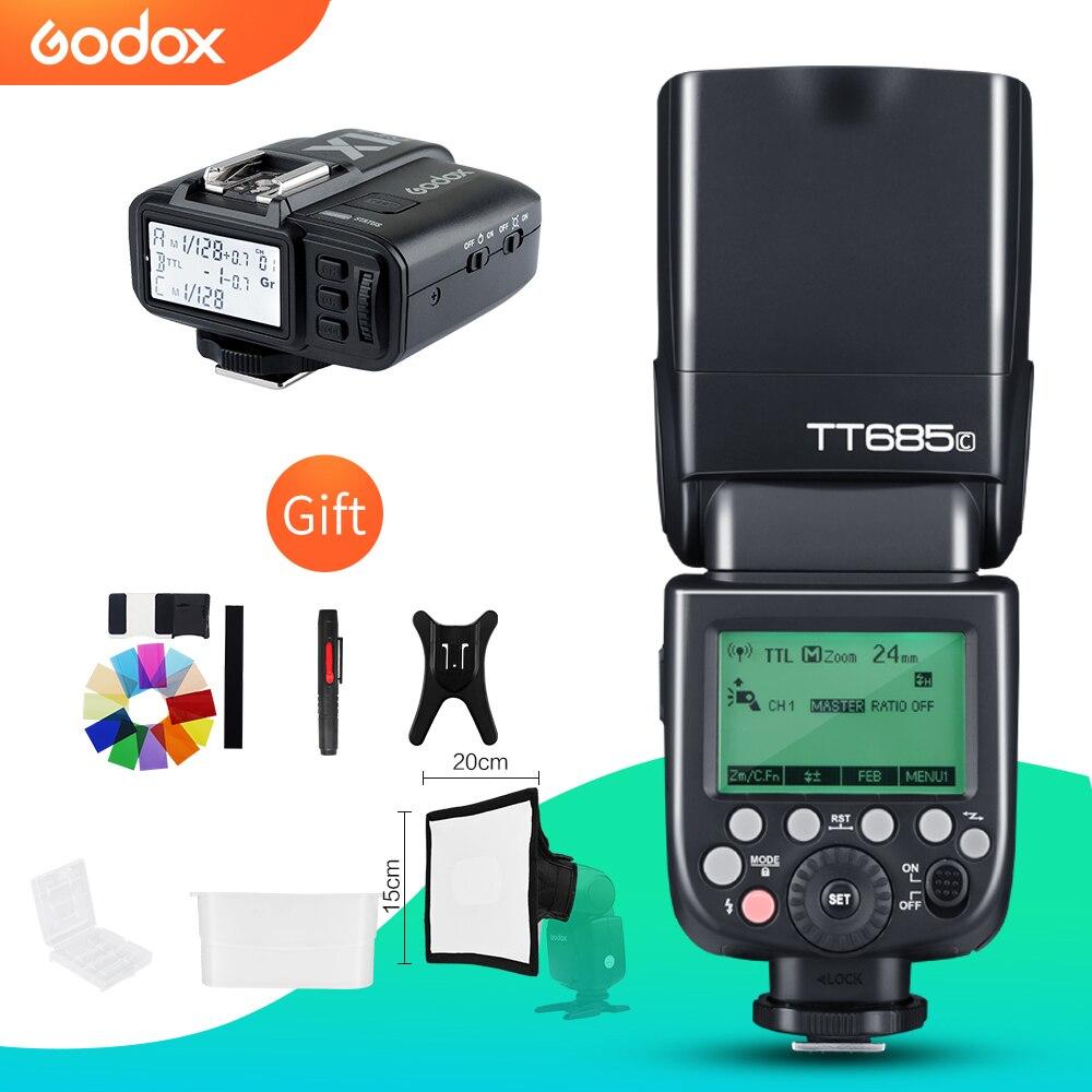 Godox TT685C TT685N TT685S TT685F TT685O 2 4G HSS TTL GN60 Flash Speedlite with X1T Trigger