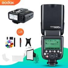 Godox TT685C TT685N TT685S TT685F TT685O 2.4G HSS TTL GN60 Flaş Speedlite ile X1T Tetik Canon Nikon Sony için fuji Olympus