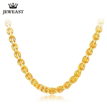 JLZB collier en or pur 24K, véritable AU 999, beau bijou classique, chic, tendance, super, offre spéciale, nouvelle collection 2020