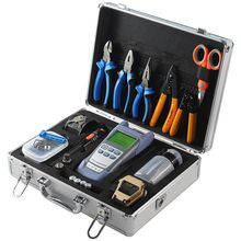 Fiber Optic fusion splicer Tool Kit with SKL-80C Fiber Cleaver and Optical Power Meter 10MW Visual Fault Locator with toolbox