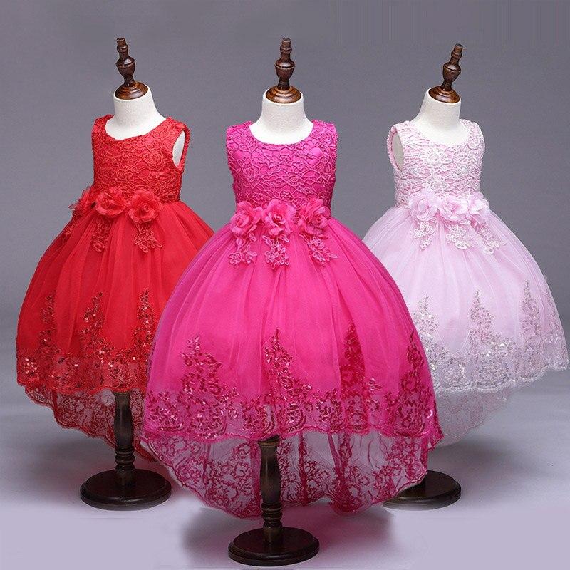 Flor de la boda niñas encaje princesa vestido niñas vestidos de ...