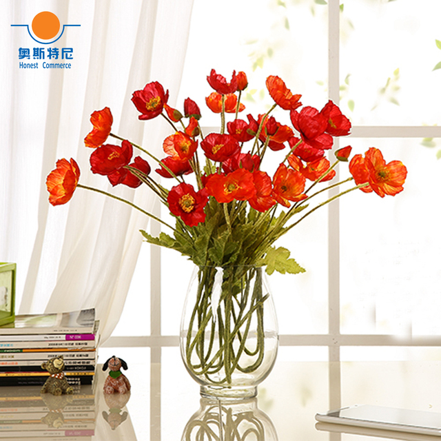 Us 12 0 5pcs Artificial Flower Bouquets Corn Poppy Flowers Papaver Rhoeas Coquelicot Bunches In Dried From