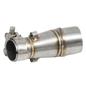Image 4 - Adaptador de conector de tubo de escape para motocicleta, silenciador de tubo medio para Kawasaki Z250 2007 2013 Ninja 2008 2007 2015 Ninja 250R 2004 2016