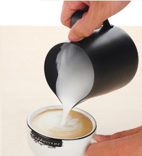 350ML teflonové černé mléko hrnek latte art caffe mocha džbán cappuccino hrnek na mléko hrnek Milk Jugs