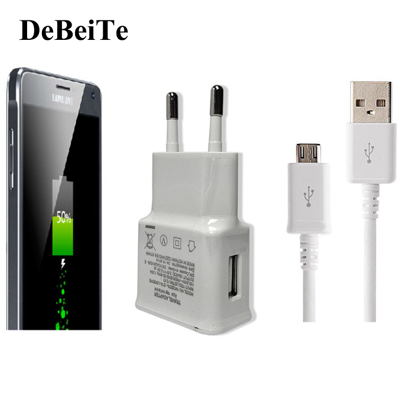 5v 2a usb wall charger adapter eu us plug usb cable. Black Bedroom Furniture Sets. Home Design Ideas