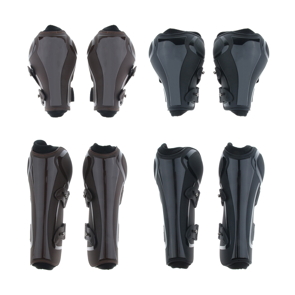 Pair Horse Leg Boots Front Hind Leg Tendon Protective Gear Equestrian Equine