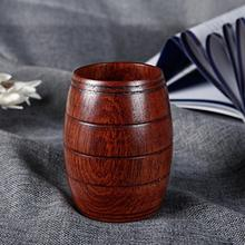 Hot Sale 11x6cm Wood Cups Saucers Natural Classical Handcrafted Jujube Big Belly Beer Coffee Milk Juice Tea Cup Tumbler 2019 Top