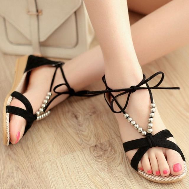 Woman Roman Sandals with Low Wedges Comfortable Footwear Fashion Casual Formal Shoes for Girls