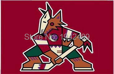 3ft x 5ft Phoenix Coyotes flag banner 100D Digital Printing flag with 2 Metal Grommets