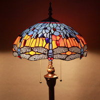 Тиффани Европейский сад художественного стекла торшер бар лампы Ресторан