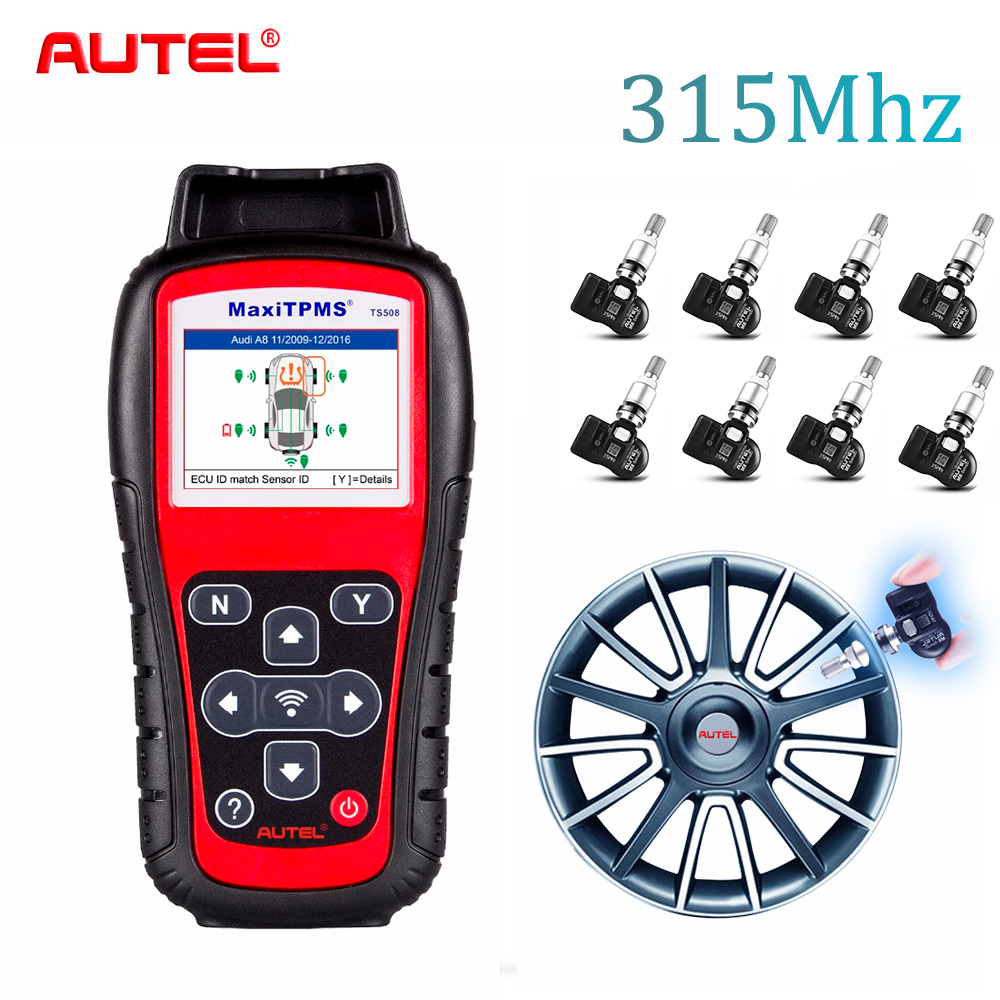 где купить Autel TS508K 315Mhz Premium TPMS Service OBD2 Car Diagnostic Tool Activate Tire Pressure Sensor Program ECU Automotive Scanner по лучшей цене