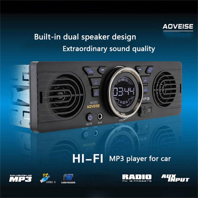 La Electrónica del vehículo En el tablero de MP3 Reproductor de Audio Radio FM E