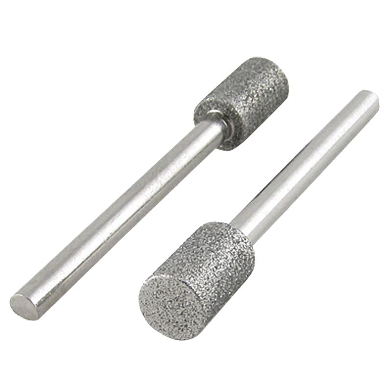 2 Pcs 3 x 6mm Diamond Drill Bits for Electronic Nail Files