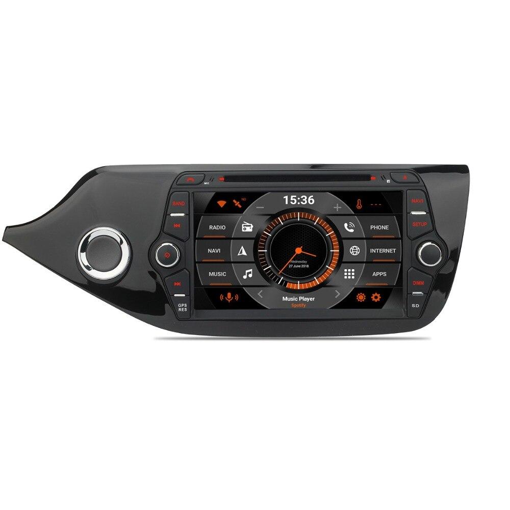 8 IPS Android 8.0 Auto Radio GPS Pour Kia Ceed 2013 2014 2015 2016 2017 Lecteur DVD de Voiture FM GPS Navigation Audio Vidéo Headunit