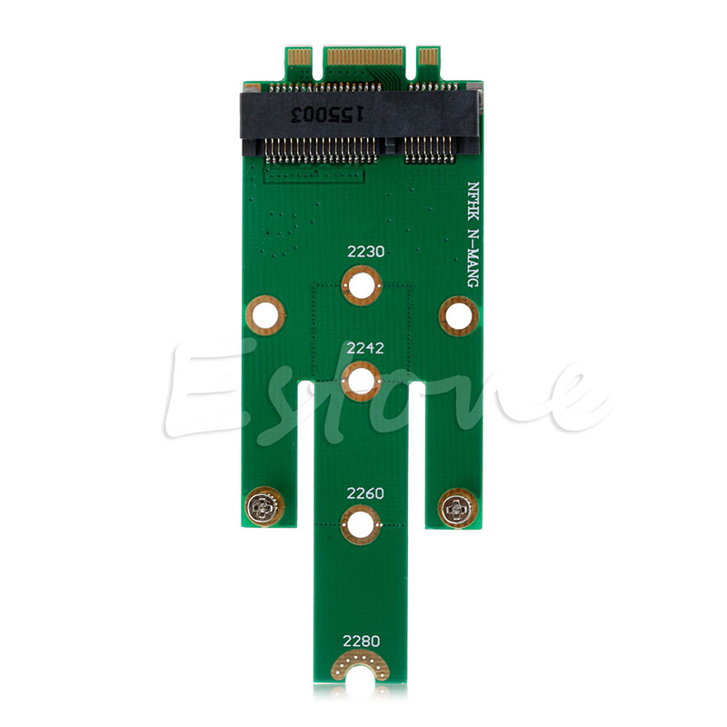 MSATA Mini PCI-E 3.0 SSD To NGFF M.2 B Key SATA Interface Adapter Card - L059 New Hot