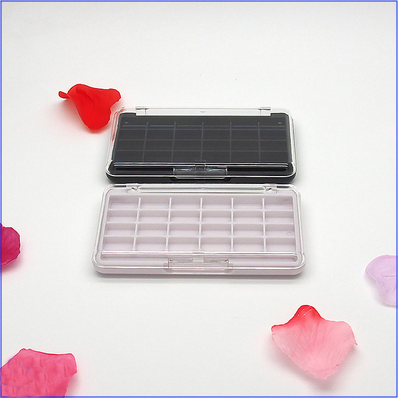 Cosmetic Tool 24 Colors Eye Shadow Palette Transparent Cover Empty Eyeshadow Compact Lipstick Packing Box Sample