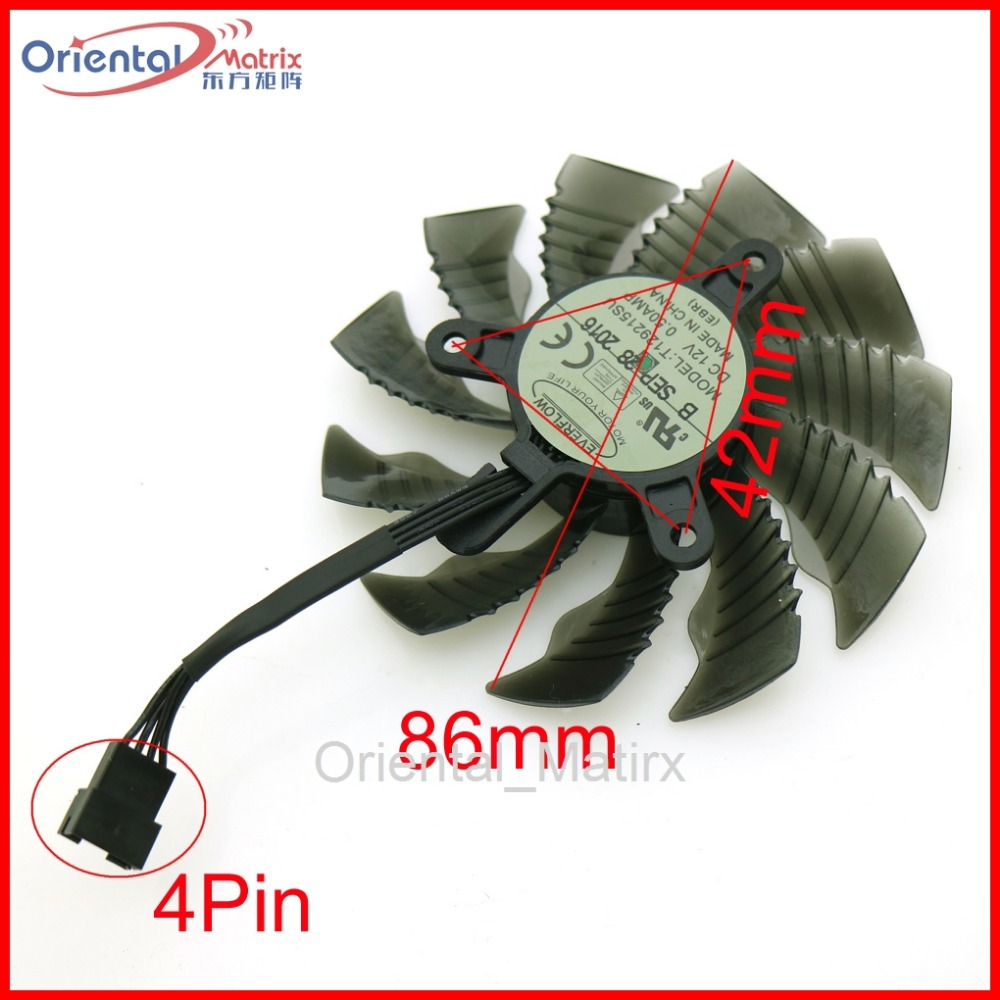 Free Shipping T129215SU 12V 0.50A 86mm 4Pin For Gigabyte GTX1060WF2OC GTX1050TI 4G GTX1050 GTX1060 Graphics Card VGA Cooling Fan computador cooling fan replacement for msi twin frozr ii r7770 hd 7770 n460 n560 gtx graphics video card fans pld08010s12hh