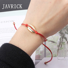 JAVRICK  Natural Cowrie Shell Charm Bracelet Summer Surfing Friendship Jewelry Wish Card