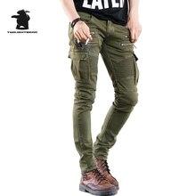 Brand New мужские джинсы Модельер звезда стиля тонкий Сложите стрейч джинсы Мужчины зеленый/черный джинсы Тянуть Homme армия C33E423