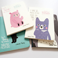 H17 Tutula Kawaii Totoro Bonito Urso Portátil Linha Escrita Notebook Planejador De Papel Presente Do Estudante Da Escola de Papelaria Material De Escritório