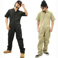 Coveralls Men Sets Short sleeved Overalls Jumpsuit Safety Clothing Thin Leotard Repair Auto Welders Crew Painter Car Wash Worker