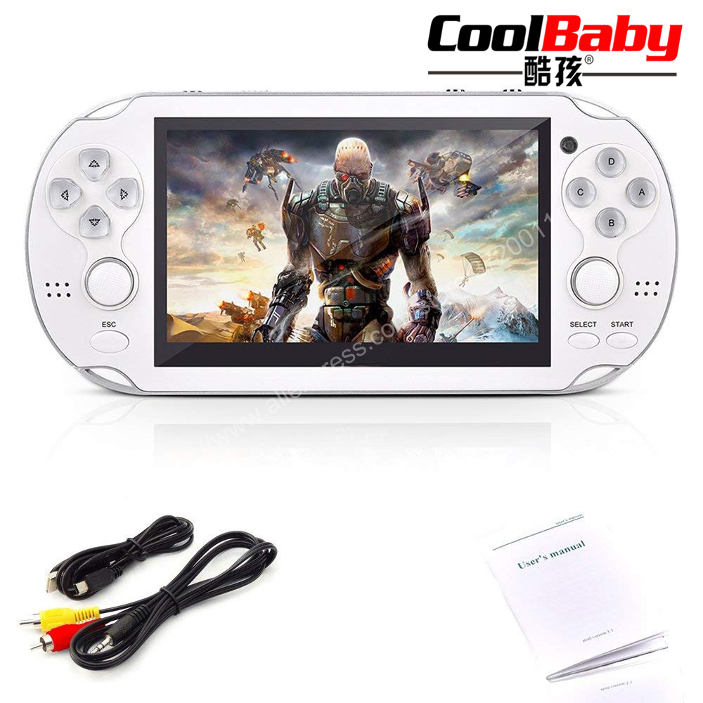 4.3 Inch Ultra-Thin 64 Bit Handheld Game Players 8GB Memory MP5 Video Game Console 1000 Kinds Multimedia classic Games for kids