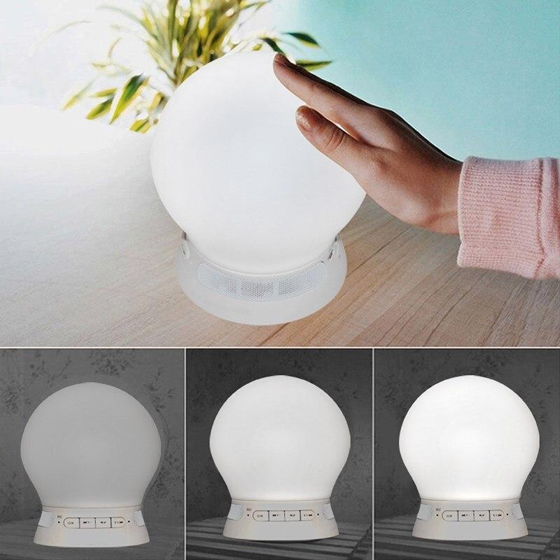 DOITOP Smart APP télécommande mains libres Bluetooth haut-parleur Dimmable RGB LED veilleuse prise en charge FM Radio TF carte Subwoofer A3