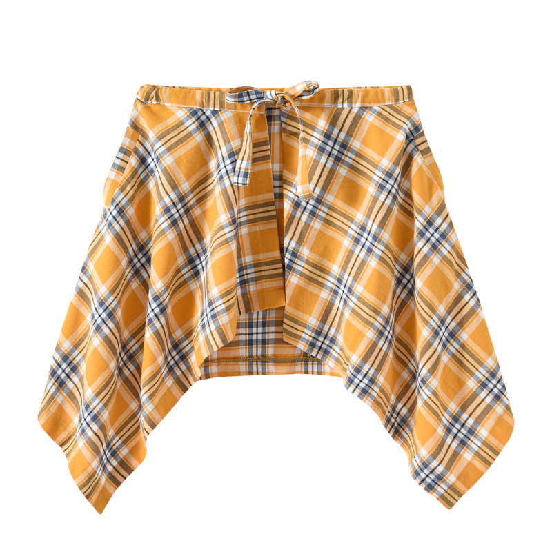 QoolXCWear Plaid Men's Hip Skirt 2019 New Fashion Waist Band Asymmetrical Cut Skirt For Men/women Street Dance Skirts