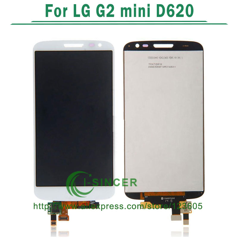 1/PCS White Black LCD Screen For LG G2 mini D620 D618 With Touch display Digitizer Assembly Free shipping