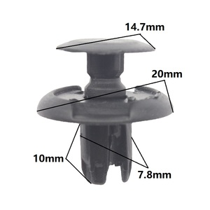 Guardabarros de 7,8mm para Honda Acura Auto parachoques guardabarros sujetador de Clip de nailon especial para Honda