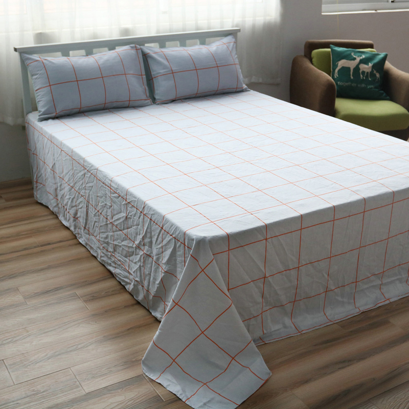 Cotton Bed Linen Custom Size Checked Sheet Sets White Cotton Flat Sheet  Queen Fitted Sheet Twin Pillow Case Beddig Sets In Bedding Sets From Home U0026  Garden ...