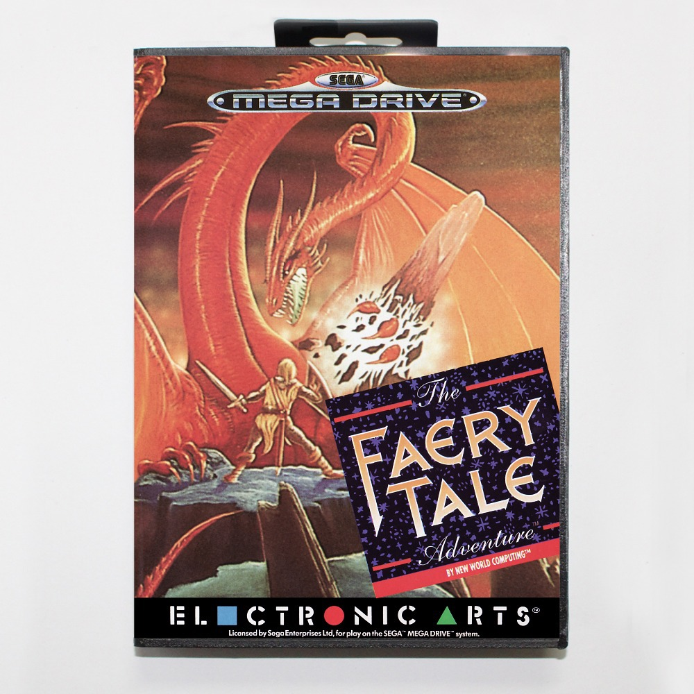 Faery Tale Adventure Game Cartridge 16 bit MD Game Card With Retail Box For Sega Mega Drive For Genesis