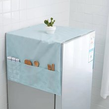 Creative PEVA refrigerator hanging bag Kitchen waterproof dust cover hanging Microwave cover cloth Household goods storage bag(China)