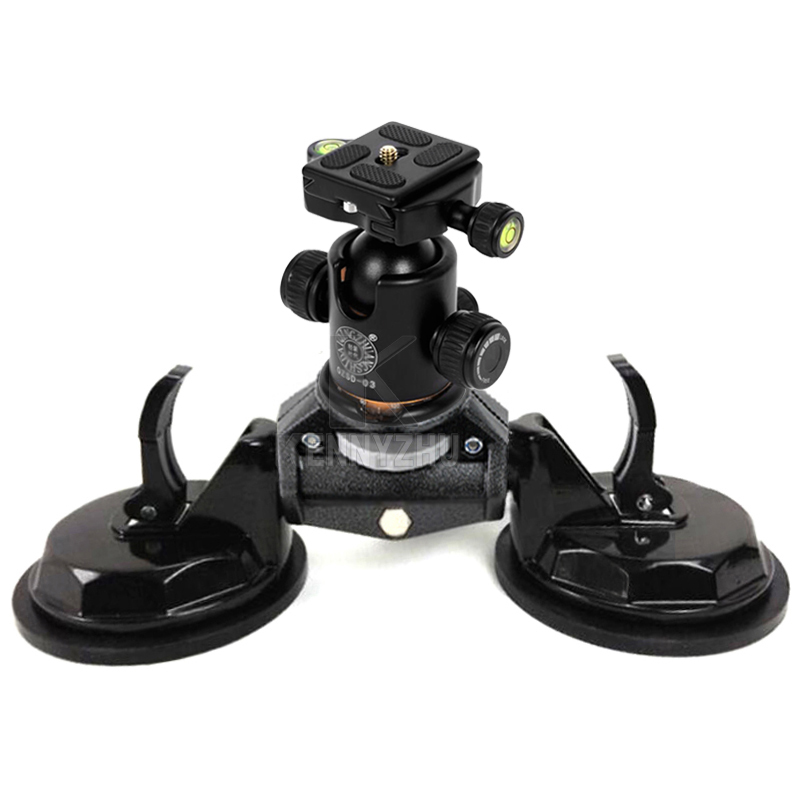DSLR Car Two Suction Cups Stabilizer Auto Sucker Mount Stand for Canon Nikon Sony Video Camera