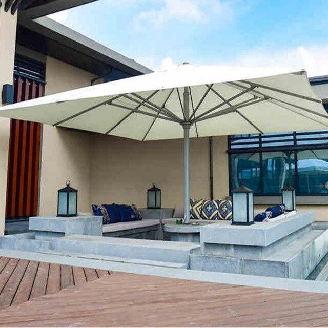 5x5 Meter Platz Deluxe Aluminium Super Großen Außen Terrasse Sonnenschirm  König Sonnenschirm Sonnenschirm Möbel Abdeckungen Mit