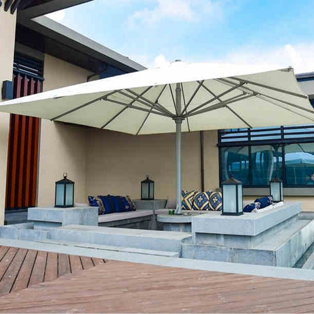 5x5meter Square Deluxe Aluminum Super Big Outdoor Patio Sun Umbrella King  Parasol Sunshade Furniture Covers With