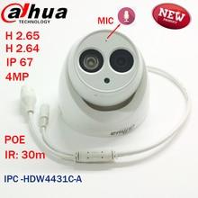 2016 la Más nueva llegada IPC-HDW4431C-A MP Dahua Red Full HD IR Mini Cámara cctv domo de red POE MICRÓFONO Incorporado DH-IPC-HDW4431C-A