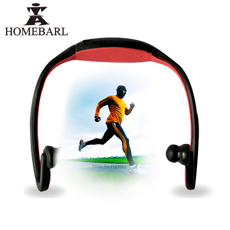 HOMEBARL BS19C <font><b>Bluetooth</b></font> 4.0 Sport Wireless Neck <font><b>Headphones</b></font> Earphones Headset + 8GB 16GB Micro SD Card / FM Radio / Mic PK ZK-<font><b>S9</b></font> image