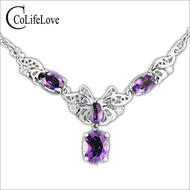 Vintage 925 solid sterling silver pendant fashion jewelry high vintage 925 solid sterling silver pendant fashion jewelry high quality amethyst necklace pendant woman fashion fine aloadofball Gallery