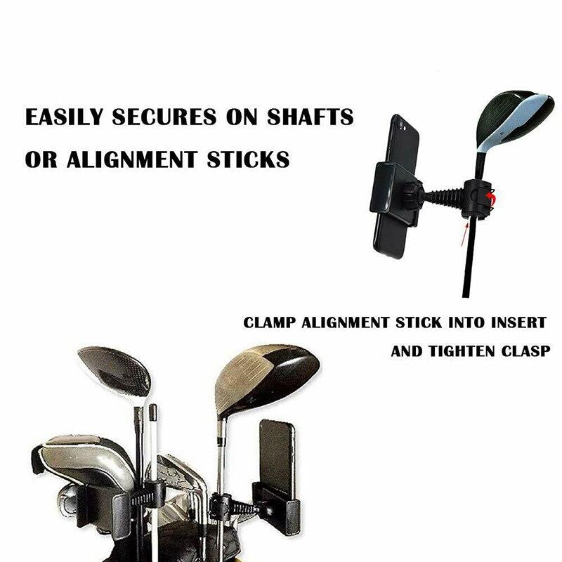 Купить с кэшбэком Golf Phone Holder Clip Golf Swing Recording Training Aids Golf Accessories