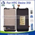 Novo lcd para htc desire 310 screen display lcd com tela de toque digitador assembléia peças de reposição + ferramentas