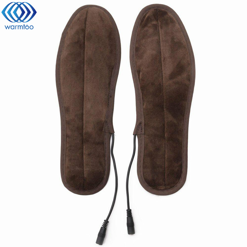New USB Heated Insole Electric Powered Plush Fur Heating Shoe Pad Winter Keep Warm Foot Shoes Insole new electric warm heated insole with remote control winter breathable thick plush insoles shoes boots soles foam material 2000ma