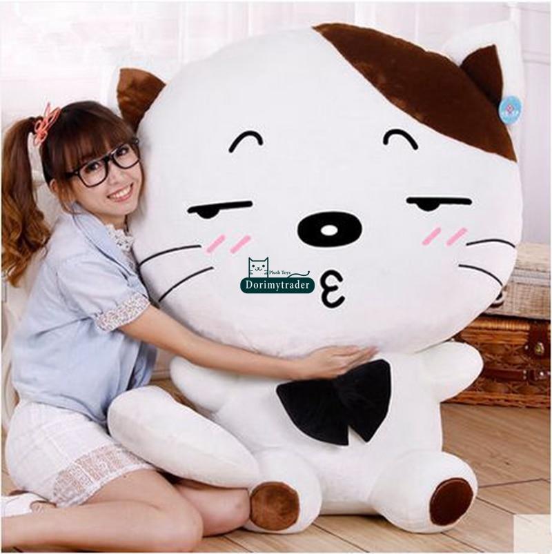 Dorimytrader Terbesar 100 Cm Jumbo Lembut Kartun Plush Toy 39   Lucu Boneka  Hewan Kucing Bantal Anak anak Bermain Boneka Besar hadiah DY61381 di Film    TV ... 1366873af1