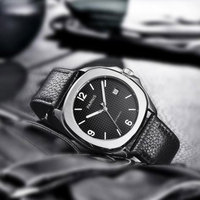 NEW Arrive 40mm PARNIS Black Dial Date Indicator Steel Case Luminous Miyota Sapphire Luxury Brand Automatic Movement men's Watch