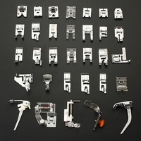 Lowest Price New Domestic Sewing Machine Presser Foot Feet Kit Set 32pcs For Brother Singer Janome