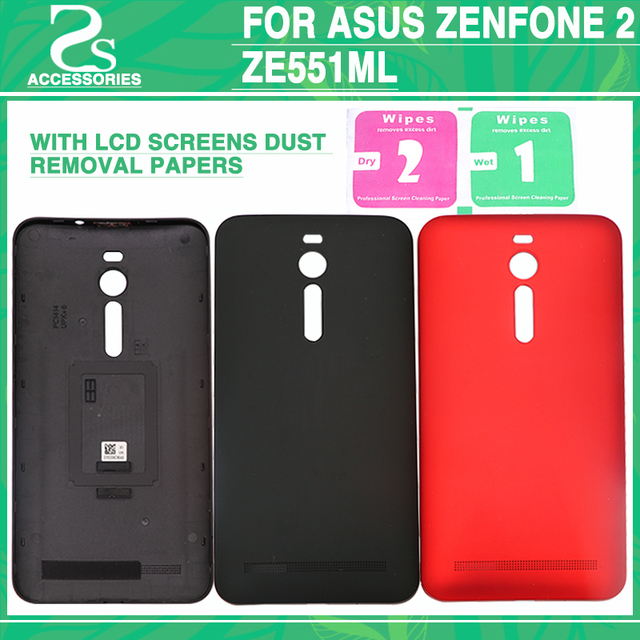 best service e4bc4 cd50e Aliexpress.com : Buy ZE551ML Battery Cover For ASUS Zenfone 2 ZE551ML Rear  Battery Door Back Case Housing Cover+LCD Screens Dust Removal Papers from  ...